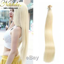 Fusion Keratin Remy Hair Brazilian Stick I-Tip Straight Human Hair Extensions 8a