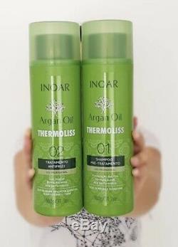GENUINE Keratin Brazilian Inoar Argan Vegan 2 X 31.7 Oz/900g Hair Straightener