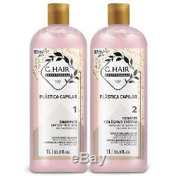 G. Hair Hair Plastic Keratin Collagen, Brazilian Keratin Treatment System 2x 1 LT