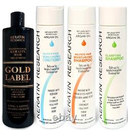 Gold Label Professional Results Brazilian Keratin Blowout Hair Treatment for Set