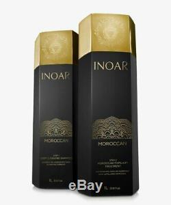 Hair Keratin Inoar Brazilian Moroccan Blowout treatment Kit 33.8oz NEW