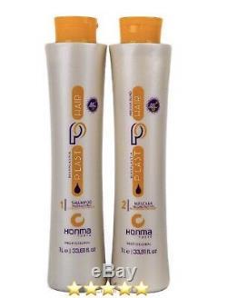 Honma Tokyo Bixyplastia Keratin Brazilian Hair treatment 2 Steps Straightening