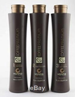 Honma Tokyo Coffee Premium Keratin Brazilian Hair treatment 3x 1L Straightener