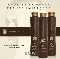 Honma Tokyo Coffee Premium Keratin Brazilian Hair treatment Straightener 3 X 1L