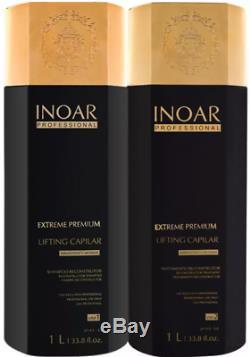 INOAR Brazilian Moroccan Keratin Keratin and Shampoo, Hair Straightening