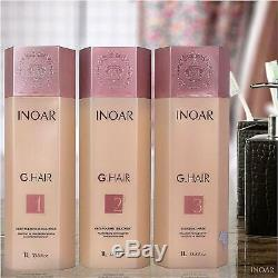 INOAR G-Hair Brazilian Keratin Treatment Blow Dry Hair Straightening FULL KIT