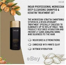 INOAR MOROCCAN Brazilian Keratin Treatment Hair Straightening GENUINE KIT/SET