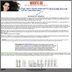 INVERTO 60 Brazilian Blowout Keratin hair treatment 1000ml Formaldehyde Free kit