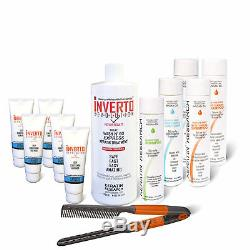 INVERTO Formaldehyde Free Brazilian keratin Blowout hair treatment Jumbo Kit