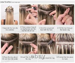 I Tip Stick Pre-bonded Keratin 100% Remy Human Hair Extensions 200 Strands THICK