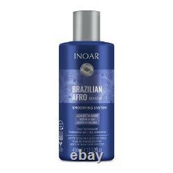 Inoar 400ml brazilian afro keratin vegan hair smoothing treatment