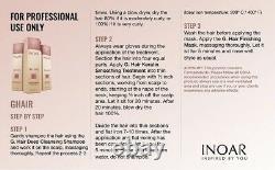 Inoar G. Hair 3x1L Brazilian Keratin Sistema de Alizado 3 pasos (33.8 fl. Oz Each)