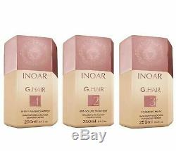 Inoar G. Hair Brazilian Keratin Blow Dry Treatment Kit Options Original