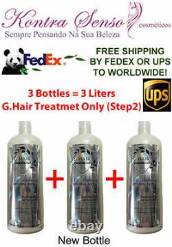 Inoar Ghair German 3 X Treatment Keratin Brazilian. Free Shipping Ups Or Fedex