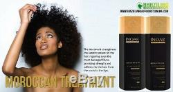 Inoar Moroccan Brazilian Keratin Treatment Blow Dry Hair Straightening Kit/set