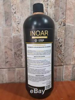 Inoar Moroccan Brazilian Keratin blow dry 1 LITER to straighten Hair Kit 1 LITER