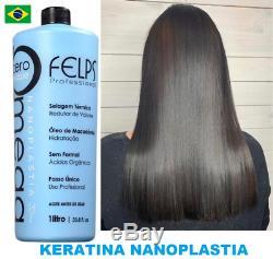 KERA FRUIT KERATIN BRAZILIAN FELPS HAIR STRAIGHTENER TREATMENT NANOPLASTIA 1 Lt