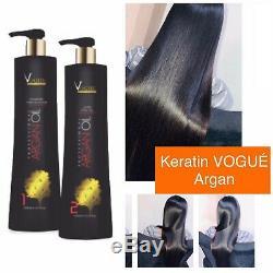 Kera Fruit Keratin Brazilian Pure Vogué Hair Straightener Treatment 2 X 1 L