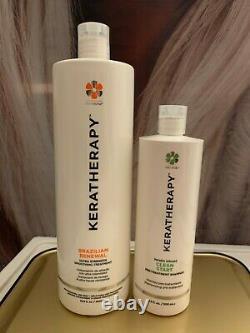 Keratherapy Brazilian Renewal Ultra Strength 33.8 Oz + Free Clean Start Shampoo