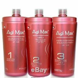 Keratin Agi Max Brazilian-Straightening hair 1000ml-1 Liter STEP 2 ONLY ON SALE