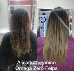 Keratin Brazilian Felps Omega Zero 1 Liter Nanoplasty 33.8 Oz Hair Straightener