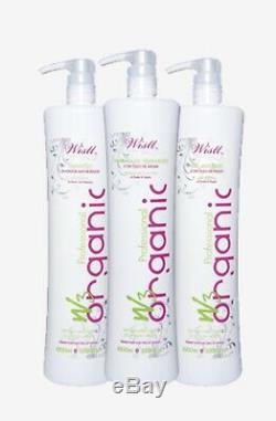 Keratin Brazilian Hair Treatment Wistt Kit W3 Organic, Anti-Frizz 3x1L Smoothing
