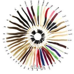 Keratin Cold Fusion Nano Micro Ring Beads Nano Tip Remy Human Hair Extensions 1g