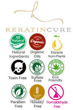 Keratin Cure Brazilian Chocolate Bio Straightening Hair Kit 15 oz 7 Piece Kit