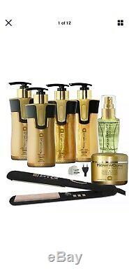 Keratin Cure Gold Honey Bio-Brazilian Complex Hair Treatment 7 Piece Kit 10oz
