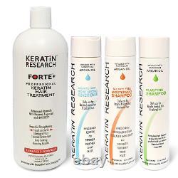 Keratin Forte Keratin Brazilian Keratin Hair Blowout Treatment with Moroccan Oil