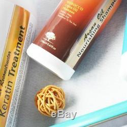 Keratin Hair Treatment And Morocco Argan Oil Shampoo Conditioner Brazilian Hair