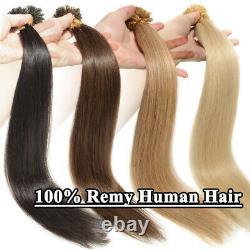 Keratin Pre Bonded Nail U Tip Premium 100% Remy Human Hair Extensions 0.5/1g US