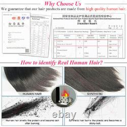 Kinky Straight Yaki Micro Ring Remy Human Hair Extensions Tip Keratin Pre Bonded