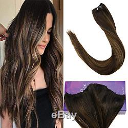 LaaVoo 22 inch Double Weft Brazilian Keratin Human Hair Extensions Microbead 50g