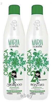 Maria Escandalosa Organic Brazilian Keratin -USA stock- kit 2x1(32oz)