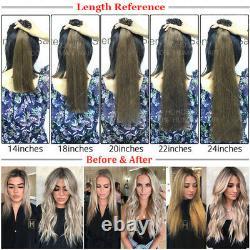 Micro I Tip Real Virgin Human Hair Extensions Pre-Bonded Keratin 18 20 22 24