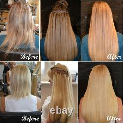Nail Tip U Tip Pre-Bonded Keratin Premium Remy Human Hair Extensions Thick Ombre