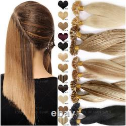 Ombre THICK Pre Bonded U-Tip Nail 100% Human Remy Hair Extensions Keratin 200PCS
