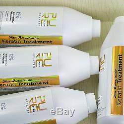PURE Brazilian Keratin Hair Straightening 5 pcs 12% 1000ml Get 1Free Hair Care