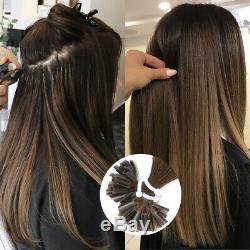 Pre Bonded U/Nail Tip Keratin 100% Remy Brazilian Human Hair Extensions 16-26