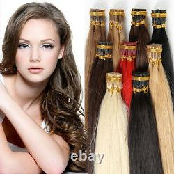 Pre Bonded stick I tip Keratin Remy human hair extensions brazilian 16-24Inch
