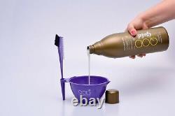 QOD Gold Brazilian Keratin Straightening Kit 1L Keratin+1L Cleaner