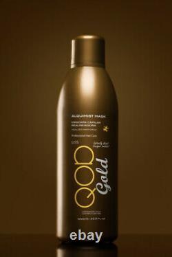 QOD Gold Brazilian Keratin Treatment Alquimist Mask with 22K Gold 1000ml/33.8 oz