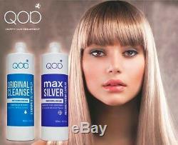 QOD MAX SILVER Brazilian Keratin Hair Straightening 2- Kit 100% Formaldehydfrei