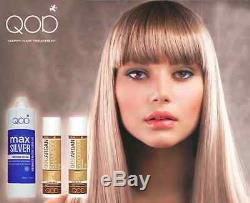 QOD MAX SILVER Brazilian Keratin Hair Straightening 3- Kit 100% Formaldehydfrei