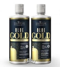 Salvatore Keratin Treatment Brazilian Blue Gold Hair Straightener 2 X 1000 Ml