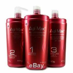 Soller Agi Max Kera-X Brazilian Keratin Hair Treatment Kit 3 steps x 1000ml