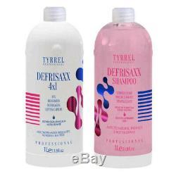 Tyrrel Defrisaxx 4in1 Hair Lifting Brazilian Keratin Kit 2x 1L 66fl. Oz