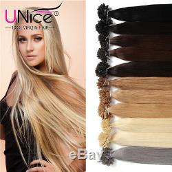 UNice 100 Strands U Tip Hair Keratin Glue Stick U Tip Human Hair Extensions 50g