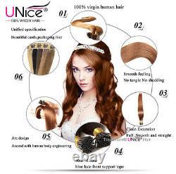UNice Brazilian 100S Keratin Stick I-tip Straight Human Hair Extensions 1g/s US